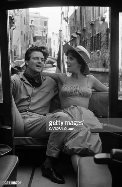 La 18ème Mostra de VENISE s'est déroulée du 25 août au 8 septembre 1957 27 août 1957 Festival du cinéma de Venise 1957 la jeune comédienne italienne...