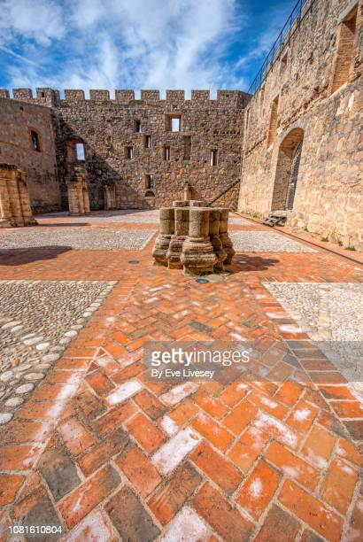 la adrada castle - herringbone floor stock photos and pictures