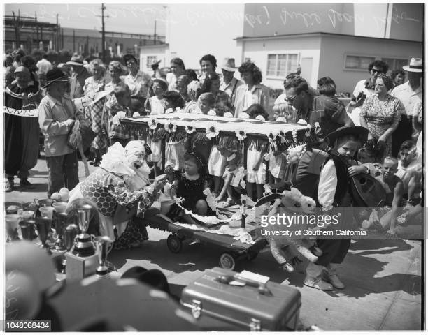 La Ballona Days in Culver City 25 August 1951 Bozo the clownJulie Jean Lugo 5 1/2 yearsBeverly MorrisErwin LewisErlene MorrisMarilyn MuirRobins...