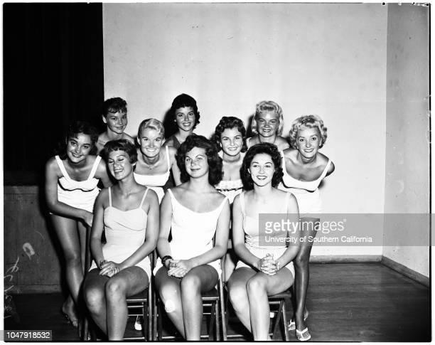 La Ballona Fiesta Queen finalists 8 July 1958 Joyce Nevin 17 yearsMary Strauss 17 yearsJill Karlson 17 yearsBobbie Carlton 17 yearsRose Ann Rice 16...