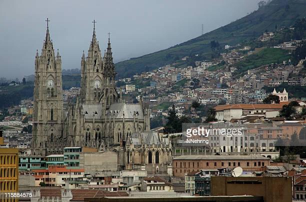 la basilica del voto nacional, quito, ecuador - national landmark stock pictures, royalty-free photos & images