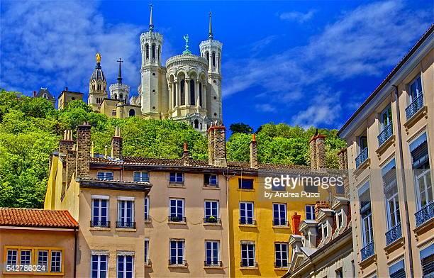 La Basilique Notre Dame de Fourvière and Vieux Lyon, Lyon, Rhône-Alpes region, France