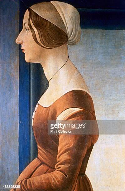 'La Bella Simonetta' 1475 From the collection of the Galleria Palatina Palazzo Pitti Florence