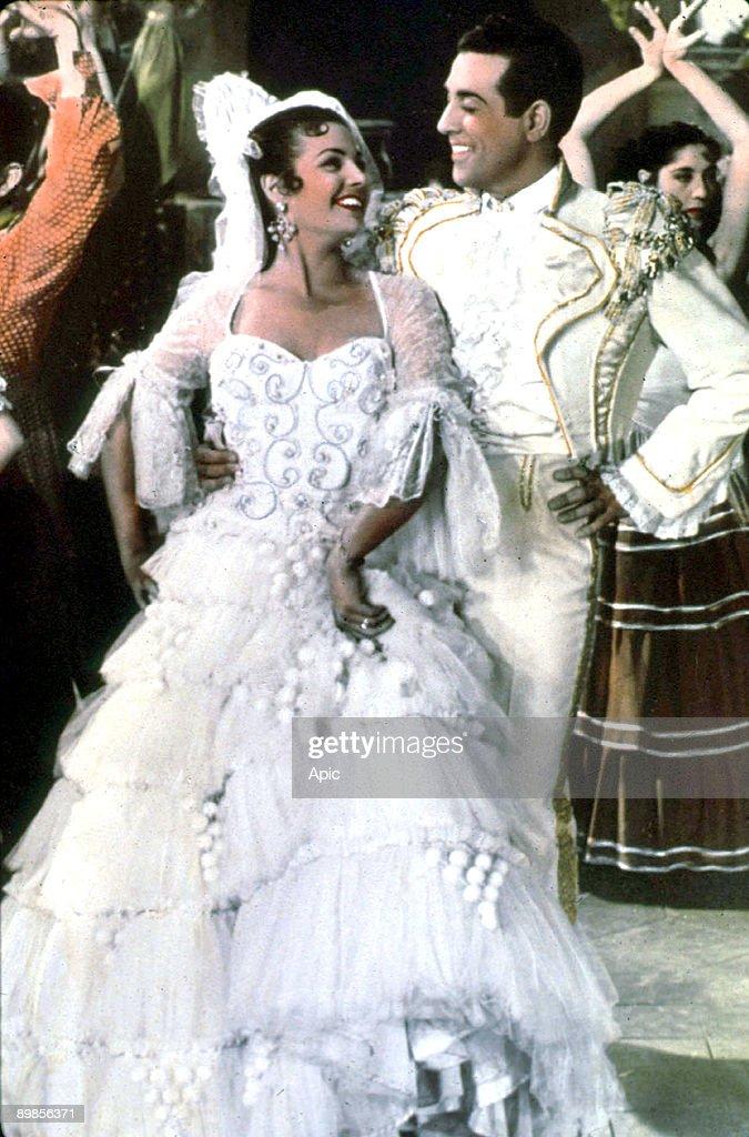 La Belle de Cadix Cadiz La Bella of RaymondBernard with Luis Mariano, Carmen Sevilla 1953 : Foto jornalística