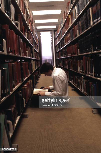 La bibliothèque généalogique des Mormons circa 1980 à Salt Lake City aux ÉtatsUnis