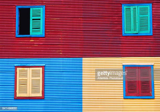 La Boca neighborhood, Caminito street, colorful houses