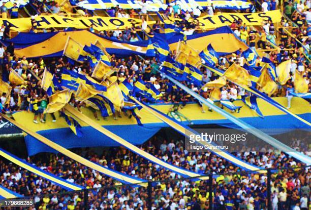 La Bombonera is the legendary home ground of argentinian and latin american most famous football club, Boca Juniors. Supporters gather in the stands...