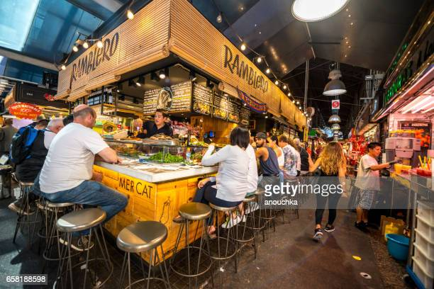 la boqueria market, barcelona, spain - barcelona spain stock photos and pictures