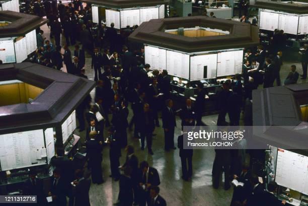 La bourse de Londres en 1980, Royaume-Uni.