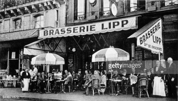 La brasserie Lipp à Paris boulevard Saint Germain France