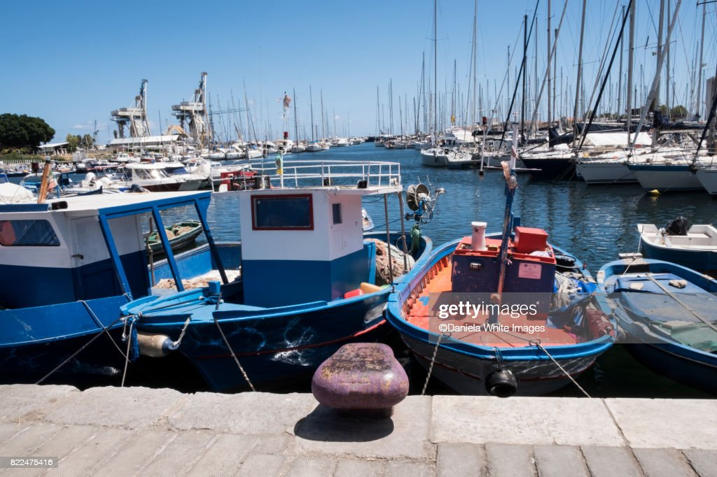 La Cala the port Palermo Sicily Italy Europe : Stock Photo