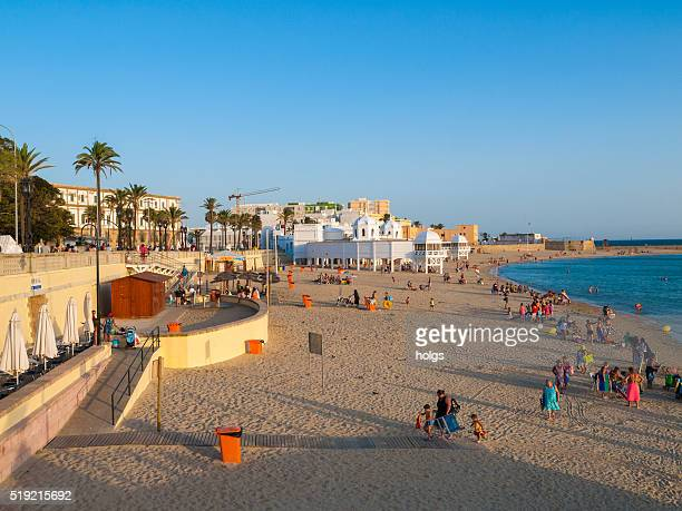 Playa de La Caleta de cádiz, España