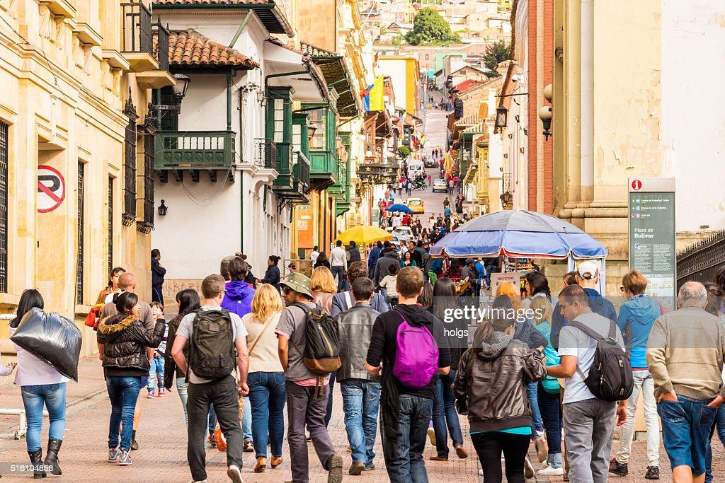 La Candelaria Street in Bogota, Colombia : Stock Photo