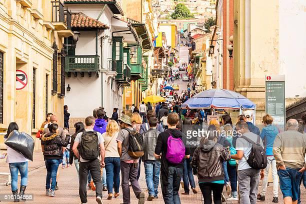 La Candelaria Street in Bogota, Colombia