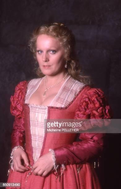 La cantatrice Katia Ricciarelli lors du tournage du film 'Othello' en mars 1986 Italie
