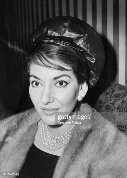 La cantatrice Maria Callas à la Royal Opera House à Londres, Royaume-Uni, le 16 février 1959.