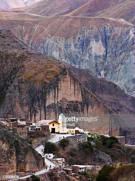 la capilla incrustada - salta argentina stock photos and pictures