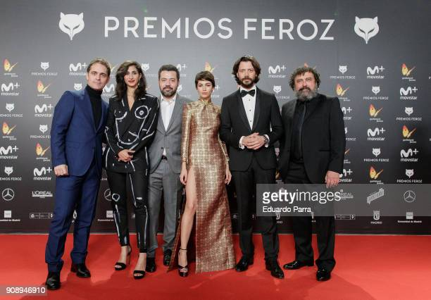 'La casa de papel' TV series cast attend Feroz Awards 2018 at Magarinos Complex on January 22 2018 in Madrid Spain