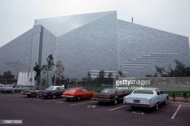 La cathédrale de crystal de Los Angeles en 1980 aux Etats-Unis.