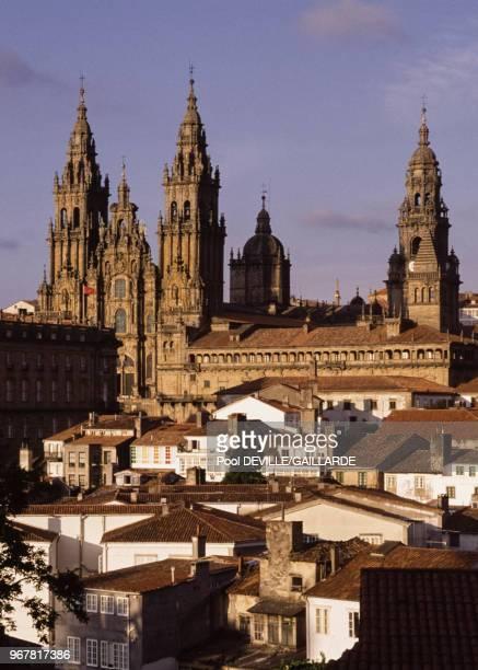 La cathédrale de SaintJacquesdeCompostelle le 21 août 1989 Espagne