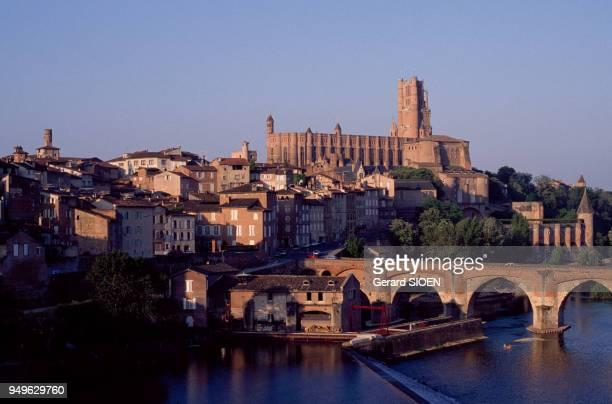 La cathédrale Sainte-Cécile et de la vieille ville d'Albi, dans le Tarn, France.