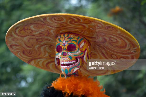 la catrina calavera - day of the dead festival stock photos and pictures