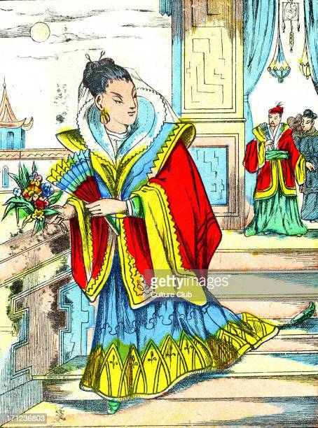 'La Cendrillon Japonaise' The Japanese Cinderella Cinderella loses her slipper Caption reads 'Cendrillon perd sa pantoufle'