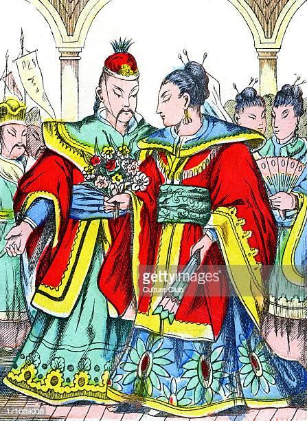 'La Cendrillon Japonaise' The Japanese Cinderella Cinderella 's marriage Caption reads 'Mariage de Cendrillon'
