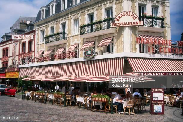 la central brasserie - trouville sur mer stock pictures, royalty-free photos & images