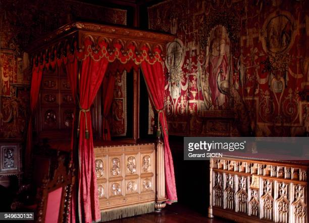 La chambre du roi dans le château de Pau, dans les Pyrénées-Atlantiques, France.
