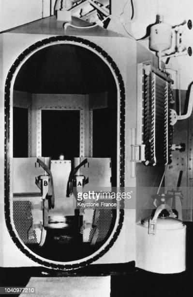 La chambre à gaz où doit être exécuté Caryl Chessmanun condamné américain dont l'appel a été rejeté le 2 juin 1960 aux EtatsUnis