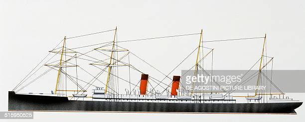La Champagne ocean liner France drawing