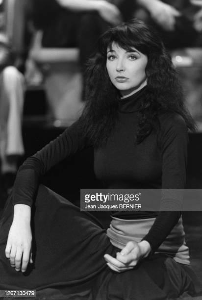 La chanteuse britannique Kate Bush à Paris le 16 mars 1983, France