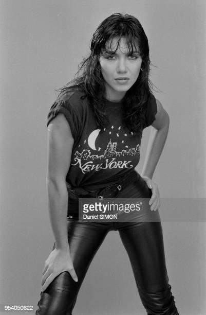 La chanteuse brésilienne Carlos Sotto Mayor à Paris en novembre 1981 France