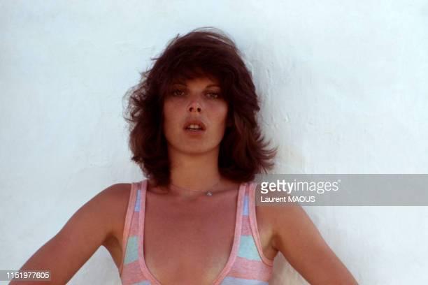 La chanteuse et actrice Dani à Paris en 1974 France