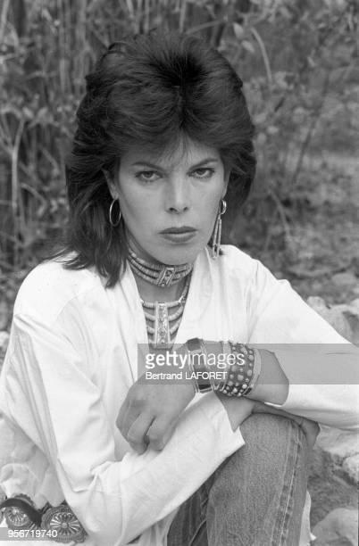 La chanteuse française Dani Auger à Marrakech en février 1982 Maroc
