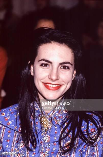 La chanteuse Lio le 24 janvier 1989 à Paris France