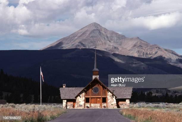 La chapelle des soldats à Big Sky dans le Montana en 1985 EtatsUnis
