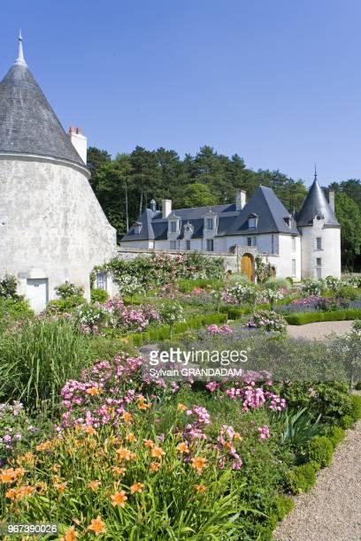 La Chatonniere Castle and gardens owner Mrs de Andia head gardener Ahmed Azeroual near Azaylerideau Touraine IndreetLoire France