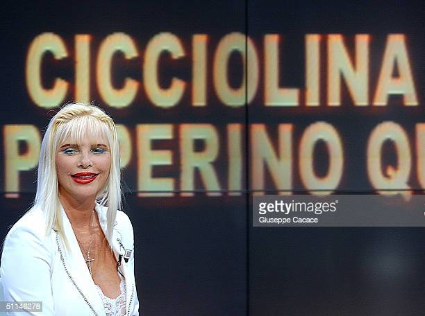 La Cicciolina annouces that she will run for the mayoral post in the forthcoming Milan local elections August 5 2004 in Milan Italy