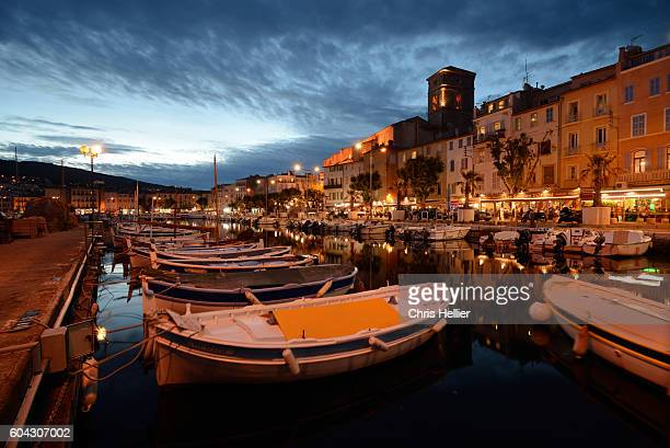 la ciotat at night provence - bouches du rhone stock pictures, royalty-free photos & images