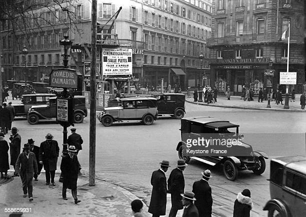 La circulation à Paris France circa 1930
