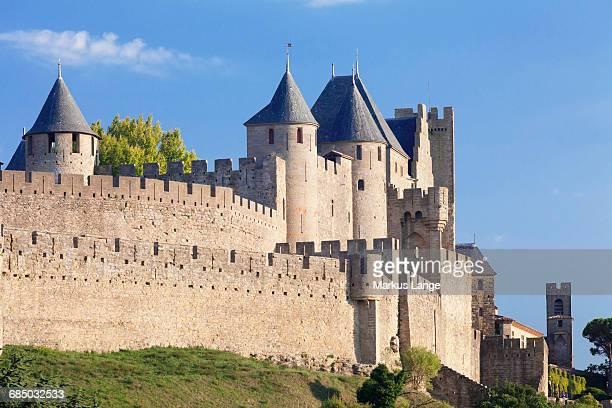 La Cite, medieval fortress city, Carcassonne, UNESCO World Heritage Site, Languedoc-Roussillon, southern France, France