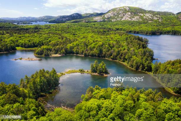 la cloche mountains at killarney provincial park - wilderness stock pictures, royalty-free photos & images