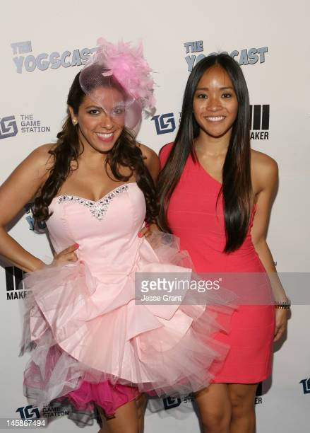 La Coacha and Mary Beth Sales attend The Yogscast E3 PreGame Party by The Game Station and Maker Studios at Drai's Hollywood on June 6 2012 in...