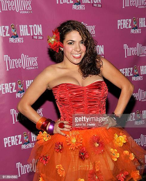 La Coacha attends the Perez Hilton LA Tour Finale VIP Concert at Bardot on October 3 2009 in Hollywood California