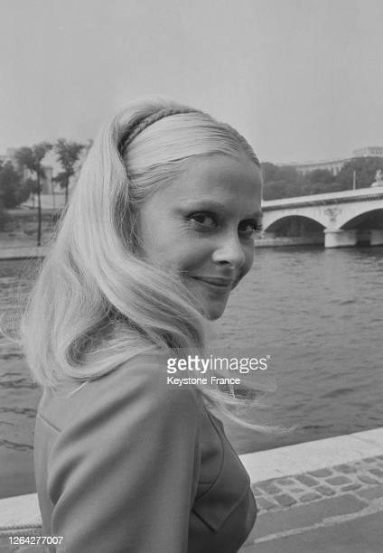 La comédienne Christiane Minazzoli en 1969 à Paris, France.