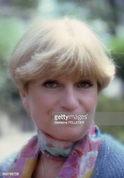 La comédienne et écrivaine française Françoise Dorin à Paris en 1982 France