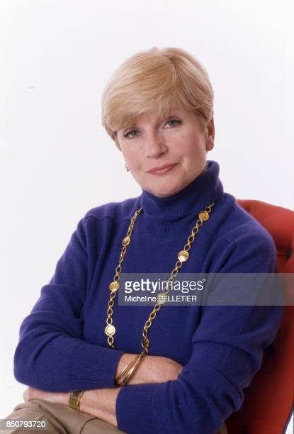 La comédienne et écrivaine française Françoise Dorin à Paris le 12 avril 1988 France