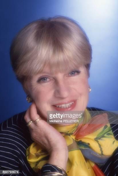 La comédienne et écrivaine française Françoise Dorin à Paris le 18 mars 1988 France